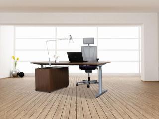 Sitz-Steh-Tisch »HZ« | HZS mit Rollcontainer